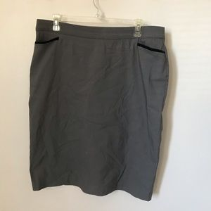 Linda Matthews Grey Pencil Skirt Size L